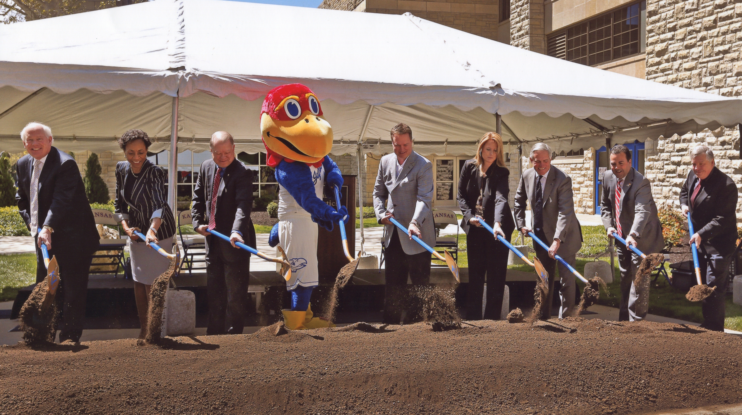 link to image of groundbreaking ceremony for DeBruce Center, 2014